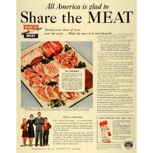 American Meat Institute WWII Food Rationing Conservation War Nutrition