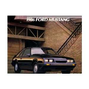 1986 FORD MUSTANG Sales Brochure Literature Book Piece