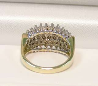 MINT 14K YELLOW GOLD 1.0cttw MULTI DIAMOND CLUSTER RING *