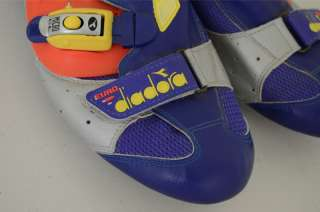 Diadora Euro road cycling shoes size 48 EUR orange blue