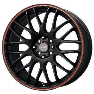 Tenzo R TYPE M Black Red Stripe Wheel (18x8/5x100mm
