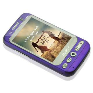 Sim Quad AT&T Bands Analog TV Resistive Touch Screen Purple
