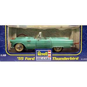 Green 55 Ford Thunderbird 118 Scale Die Cast Car Toys