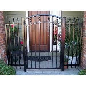GTO Gate   Venice 4ft Walk Through Gate Flat Top with Finials #G5104