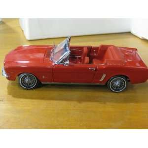1964 1/2 Ford Mustang Convertible Red Diecast 118 Scale