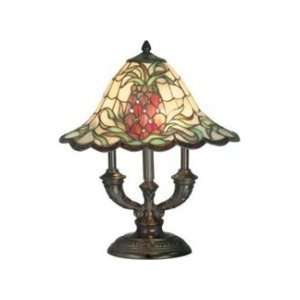Dale Tiffany TT70710 Isabella Art Glass 2 Light Table Lamp