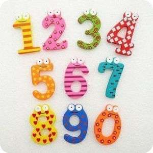 Numbers Wooden Magnets,Educational Toy,Favours,MAG002