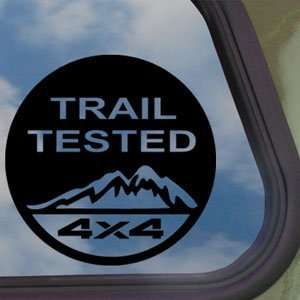 Trail Tested Off Road 4x4 Black Decal Truck Window Sticker