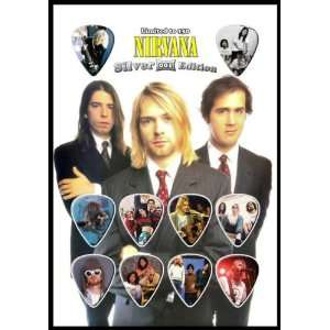 Nirvana Silver Edition Guitar Pick Display With 10 Guitar