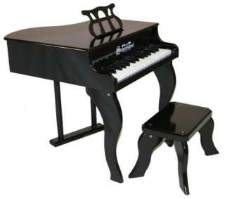 New Schoenhut Kids 30 Key Fancy Baby Grand Piano Black