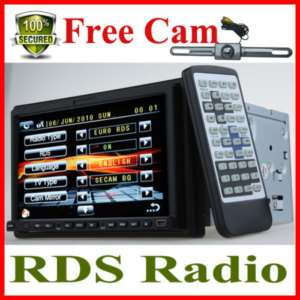 LCD 2Din Car Radio DVD TV Player Touch Screen SD+CAM