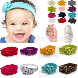 GORGEOUS INFANT BABY GIRL FLOWER HEADBAND ELASTIC COTTON PHOTOGRAPHY
