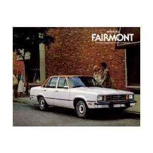 1979 FORD FAIRMONT Sales Brochure Literature Book Piece