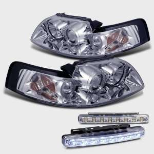Eautolight99 04 Ford Mustang Halo Projector Head Lights+led Bumper Fog