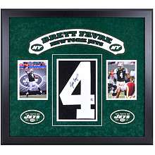 Mounted Memories New York Jets Brett Favre Autographed Jersey and