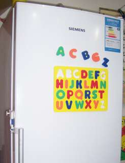 magnetic lower case letter Alphabet fridge magnets Jigsaw foam puzzle