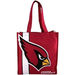 NFL Arizona Cardinals Red Team Stripe Canvas Tote