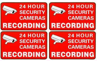 Home CCTV Security Camera Video Surveillance Sticker Warning Decal