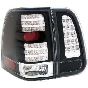 Anzo USA 311097 Lincoln Navigator 4 Pcs Black LED Tail Light Assembly
