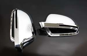 Audi A4 S4 B8 Chrome S Line Mirrors Caps Cover Housing