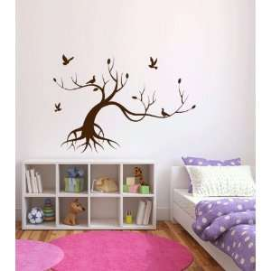 Tree and Birds Vinyl Wall Decal Sticker Graphic By LKS Trading Post