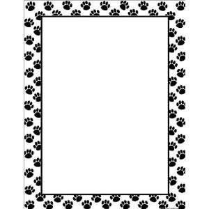 Created Resources Black Paw Prints Blank Chart (7699)