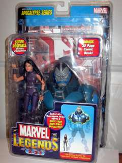 figure MARVEL LEGENDS Apocalypse Series X MEN w/bonus comic book
