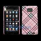 Plaid Pink Hard Case Cover Samsung Galaxy S 2 S2 i9100