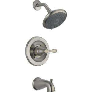 Delta Porter Single Handle Tub and Shower Faucet in Brushed Nickel