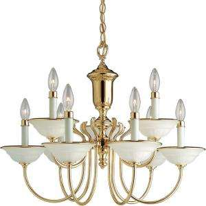 Progress Lighting Prescott Collection Polished Brass 9 light