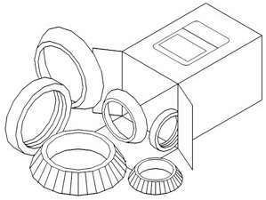 Brand New WBKJD1 John Deere Wheel Bearing Kit A AO AR B D G 50 520 60