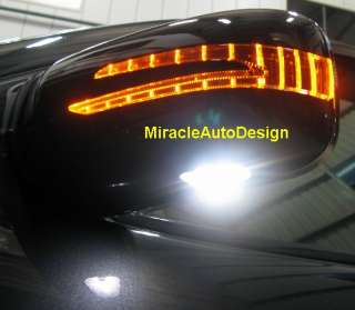 ARROW LED DOOR MIRROR COVERS (WHITE/BLACK) FOR 2010 2011 MERCEDES W221