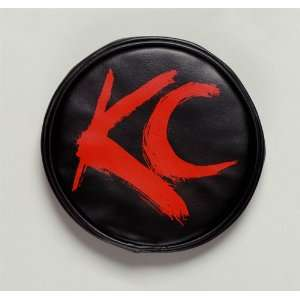 KC HiLites KCH 5110 Light Cover Pair Blk with Red KC Logo 6 in. Round