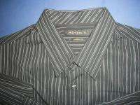 Mens Axist Blue Striped Dress Shirt XXL RV$42 *