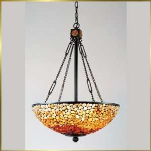 Tiffany Chandelier, QZTF2819VB, 3 lights, Antique Bronze, 19 wide X