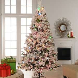 Colin Cowie 9 Flocked White Artificial Christmas Tree