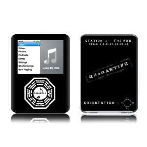 Dharma Black Design Protective Decal Skin Sticker for Apple iPod nano