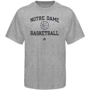 adidas Notre Dame Fighting Irish Ash Collegiate Basketball T shirt