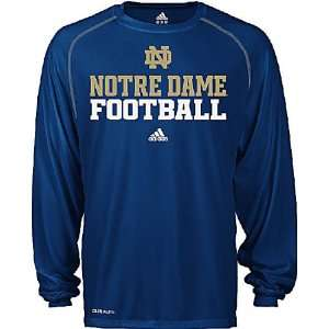 Adidas Notre Dame Fighting Irish Adult Climalite Sidelines Long Sleeve