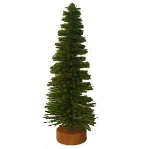 5 Mini Moss Green Artificial Village Christmas Tree