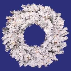 Artificial Christmas Wreath   Clear Dura Lights