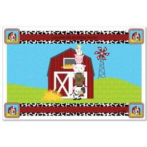 Farm Animals   Personalized Birthday Party Placemats Toys & Games