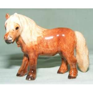 HORSE Shetland Pony Chestnut Stands New MINIATURE Figurine