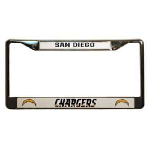 Chargers NFL Chrome License Plate Frame