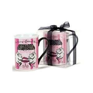 Friendsheep Mug in Pink & Brown with Gift Box Kitchen