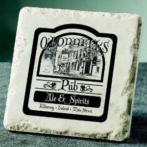 Personalized Irish Pub Coasters   Set of 4