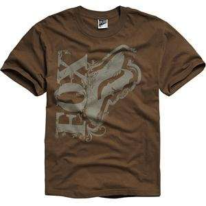 Fox Racing Rhythmic T Shirt   Large/Cocoa Automotive