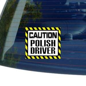 Caution Polish Driver   Window Bumper Laptop Sticker