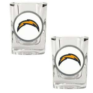 San Diego Chargers   NFL 2oz Square Shot Glass Set (White)   2 Pack