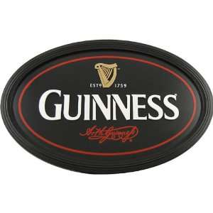 Guinness Irish Pub Sign   Black Oval